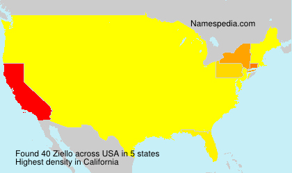 Surname Ziello in USA