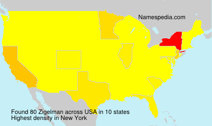 Surname Zigelman in USA