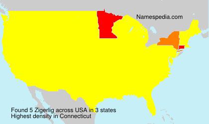 Surname Zigerlig in USA