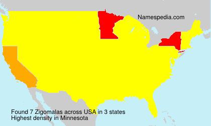 Surname Zigomalas in USA
