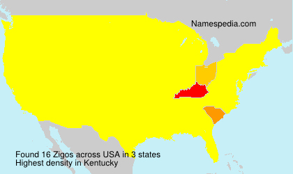 Surname Zigos in USA