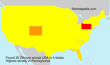 Surname Zilhaver in USA