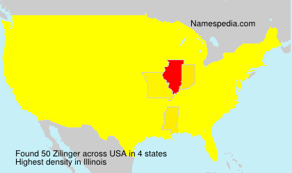 Surname Zilinger in USA