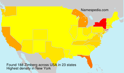 Surname Zimberg in USA