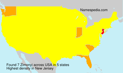 Surname Zimonyi in USA