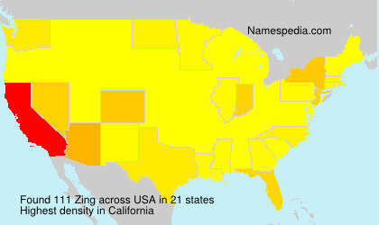 Surname Zing in USA