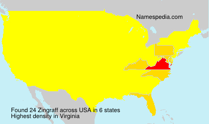 Surname Zingraff in USA