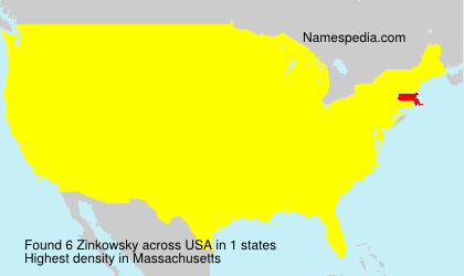 Surname Zinkowsky in USA
