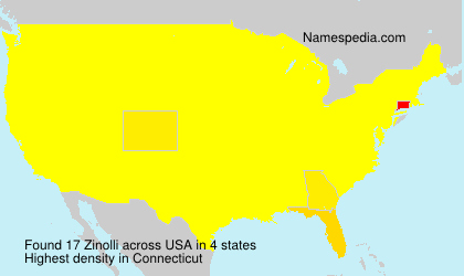 Surname Zinolli in USA