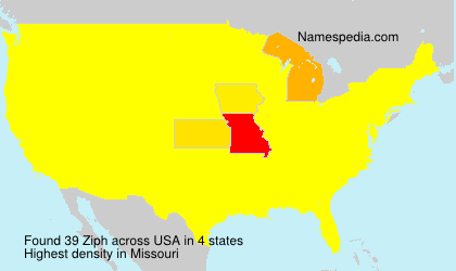 Surname Ziph in USA