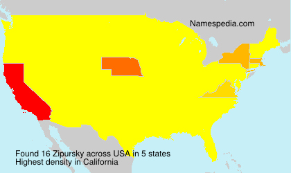 Surname Zipursky in USA