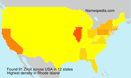 Surname Ziroli in USA
