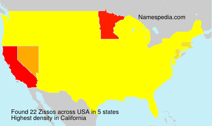Surname Zissos in USA