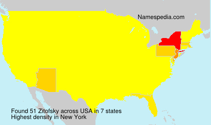 Surname Zitofsky in USA