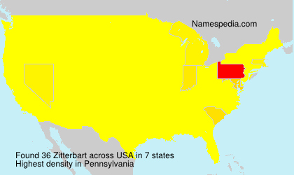 Surname Zitterbart in USA