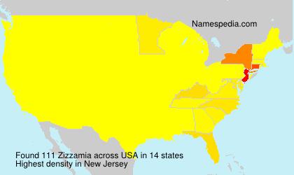 Surname Zizzamia in USA