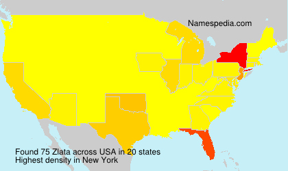 Familiennamen Zlata - USA