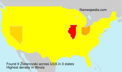 Familiennamen Zlatanovski - USA