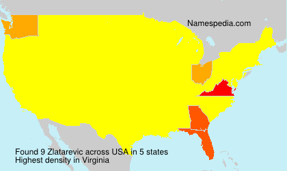 Surname Zlatarevic in USA