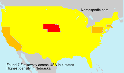 Familiennamen Zlatkovsky - USA