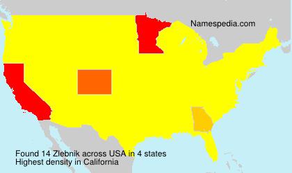 Familiennamen Zlebnik - USA