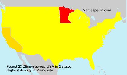 Familiennamen Zlimen - USA