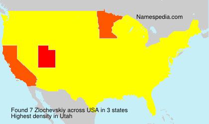 Familiennamen Zlochevskiy - USA