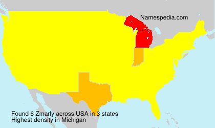 Surname Zmarly in USA
