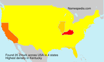 Surname Zmurk in USA