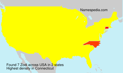 Surname Zodi in USA