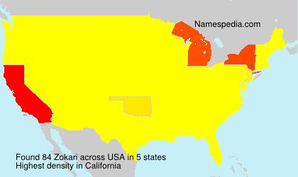 Surname Zokari in USA