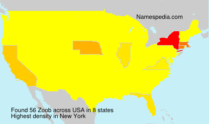 Surname Zoob in USA
