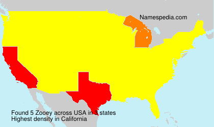 Familiennamen Zooey - USA