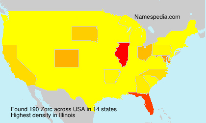 Surname Zorc in USA