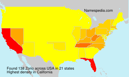 Surname Zorio in USA