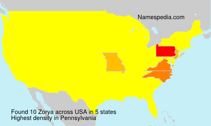 Surname Zorya in USA