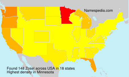 Surname Zosel in USA