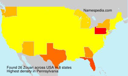Surname Zouari in USA