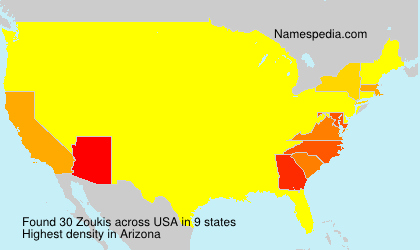 Surname Zoukis in USA
