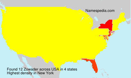 Surname Zowader in USA