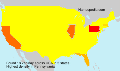 Surname Zsolnay in USA