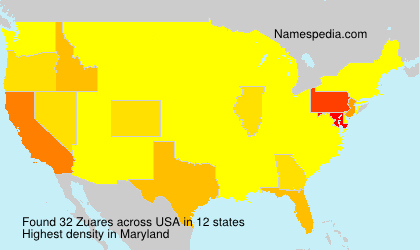 Surname Zuares in USA