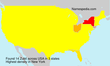 Surname Zubil in USA