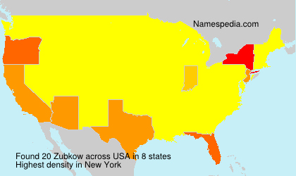 Surname Zubkow in USA