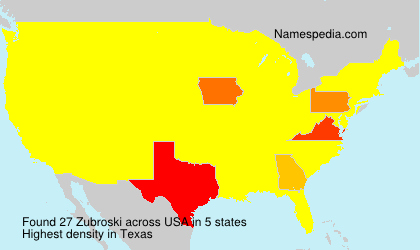 Surname Zubroski in USA