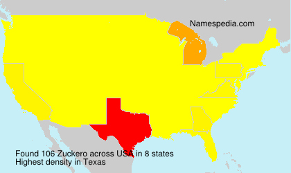 Surname Zuckero in USA