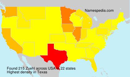 Familiennamen Zuehl - USA