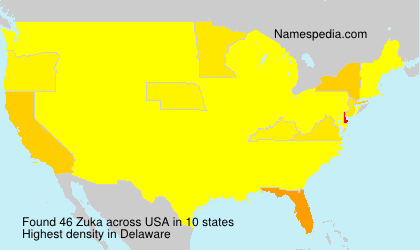Surname Zuka in USA