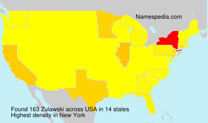 Surname Zulawski in USA