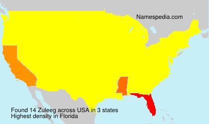 Familiennamen Zuleeg - USA